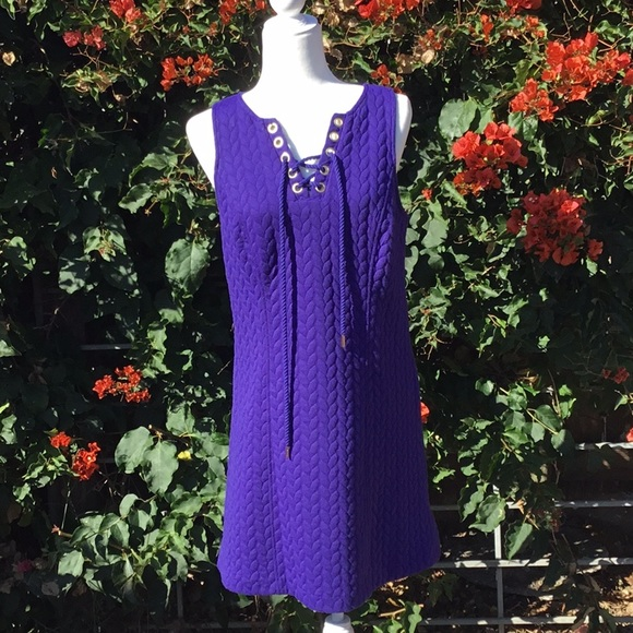 Kensie Dresses & Skirts - Purple Lace Tie Dress